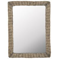 vidaXL Spiegel 60x80 cm wicker bruin