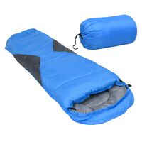 vidaXL Kinderslaapzak mummie lichtgewicht 10 ℃ 670 g blauw