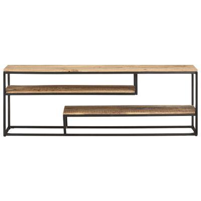vidaXL Tv-meubel 130x30x45 cm ruw mangohout