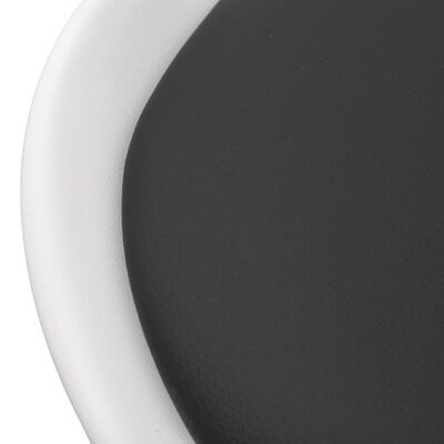 vidaXL Eetkamerset 5-delig zwart en wit