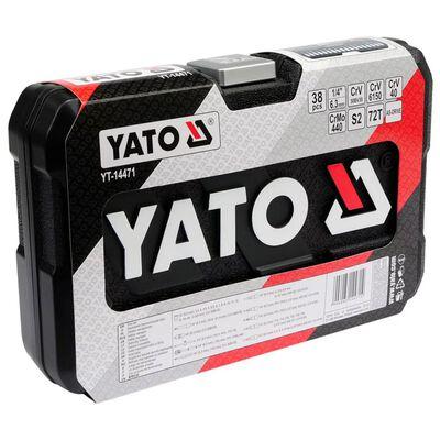 YATO Gereedschapsset 38-delig zwart metaal YT-14471