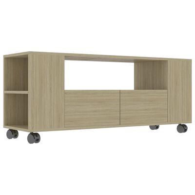 vidaXL Tv-meubel 120x35x43 cm spaanplaat sonoma eikenkleurig