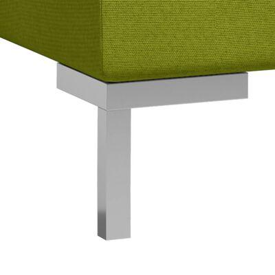 vidaXL Hoekbanken 2 st met kussens sectioneel stof groen