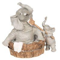 Clayre & Eef Decoratie olifanten 13x9x13 cm