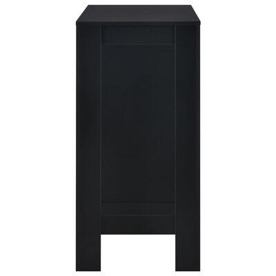 vidaXL Bartafel met schap 110x50x103 cm zwart