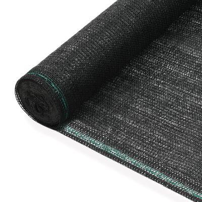 vidaXL Tennisscherm 1x100 m HDPE zwart