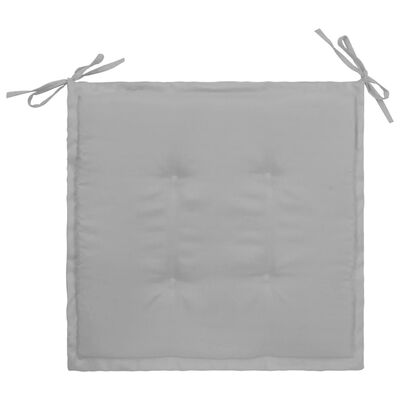 vidaXL Tuinstoelkussens 4 st 40x40x3 cm grijs