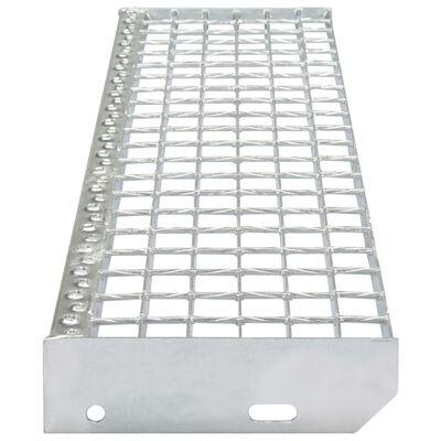 vidaXL Traptreden 4 st 600x240 mm gesmeedlast gegalvaniseerd staal