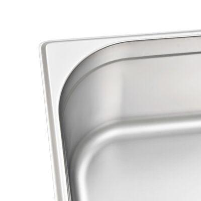 vidaXL Gastronormbakken 2 st GN 1/1 150 mm roestvrij staal