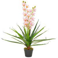 vidaXL Kunstplant met pot orchidee 90 cm roze