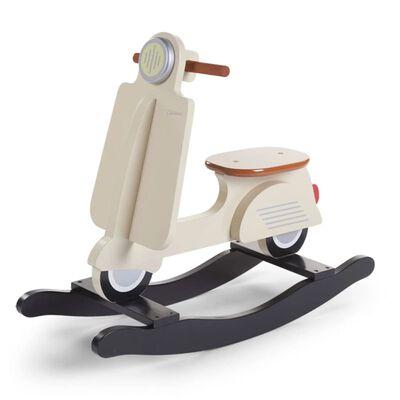 CHILDHOME Hobbelscooter beige en zwart