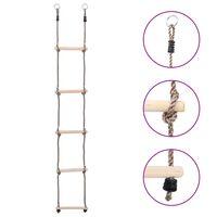 vidaXL Ladder met 5 sporten 210 cm massief grenenhout