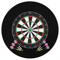 vidaXL Dartbord professioneel met 6 darts en surround sisal