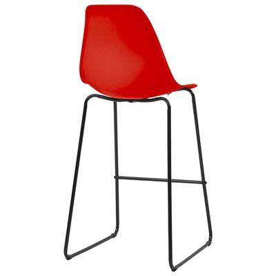 vidaXL Barstoelen 6 st kunststof rood