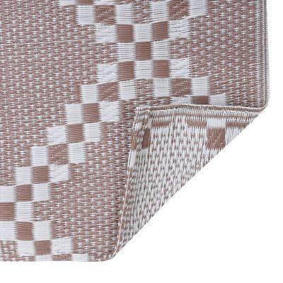 vidaXL Buitenkleed 190x290 cm PP bruin