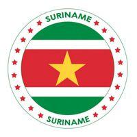 Suriname versiering onderzetters/bierviltjes - 75 stuks - Suriname