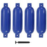 vidaXL Bootstootkussens 4 st 51x14 cm PVC blauw