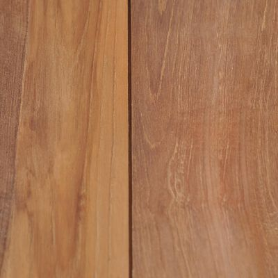 vidaXL Eettafel 140x70x76 cm teakhout met natuurlijke afwerking