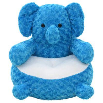 vidaXL Knuffel olifant pluche blauw