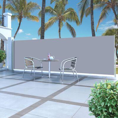 vidaXL Windscherm uittrekbaar 160x500 cm grijs