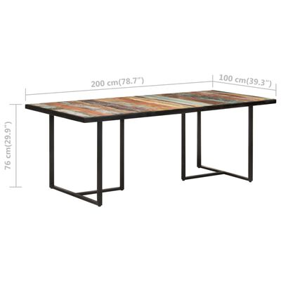 vidaXL Eettafel 200 cm massief gerecycled hout