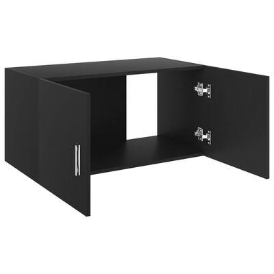vidaXL Hangkast 80x39x40 cm spaanplaat zwart