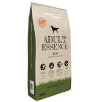 vidaXL Premium hondenvoer droog Adult Essence Beef 15 kg