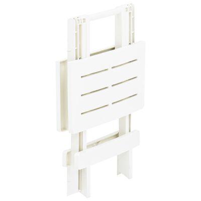 vidaXL Tuintafel inklapbaar 45x43x50 cm kunststof wit