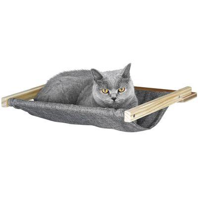 Kerbl Wandgemonteerd kattenhangmat Tofana 45x40 cm grijs 81544