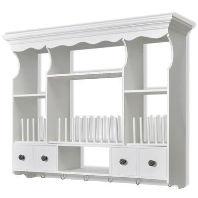 vidaXL Keukenwandkast hout wit