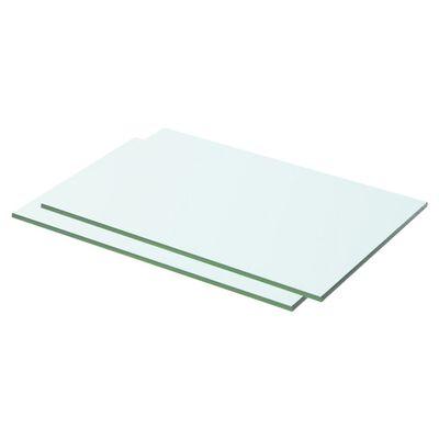 vidaXL Schappen 2 st 50x25 cm glas transparant