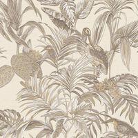 DUTCH WALLCOVERINGS Behang Bird-of-Paradise crème