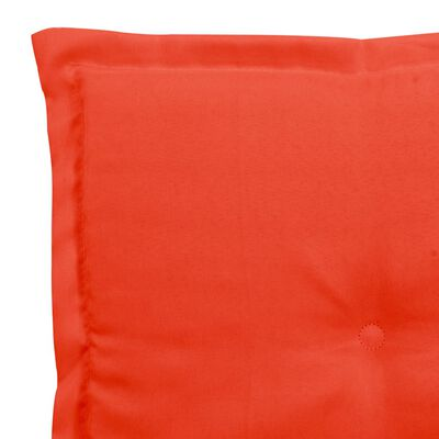 vidaXL Tuinstoelkussens 4 st 40x40x4 cm rood