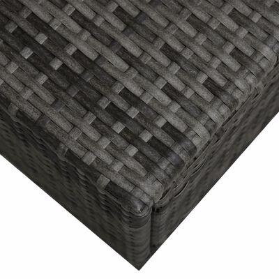 vidaXL 9-delige Loungeset met luifel poly rattan antraciet
