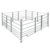 vidaXL Schaapskooi 4 panelen 183x183x92 cm gegalvaniseerd staal