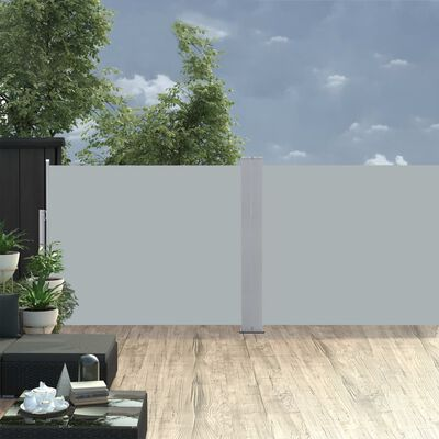 vidaXL Windscherm uittrekbaar 140x1000 cm antraciet