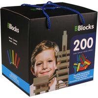 BBlocks Bouwplankjes meerkleurig hout 200 st BBLO890102