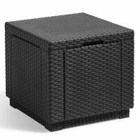 Allibert Opbergpoef kubusvormig grafiet 213816