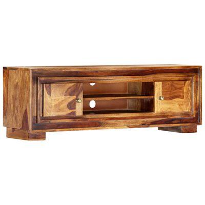 vidaXL TV-meubel 118x30x40 cm massief sheeshamhout