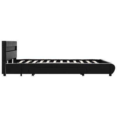 vidaXL Bedframe met LED kunstleer zwart 120x200 cm