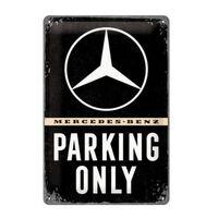 Metalen bord Mercedes-Benz Parking Only 20 x 30 cm - Wandbord -