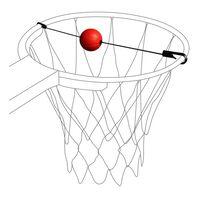 Pure2Improve basketbal Target Trainer zwart/rood