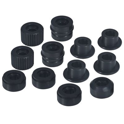 vidaXL Flensmoeren voor buiskraalmachine 12 st staal