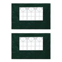 vidaXL Tentwanden 2 st met raam groen