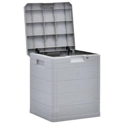 vidaXL Opbergbox voor in de tuin 90 L lichtgrijs