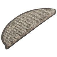 vidaXL Trapmatten zelfklevend 15 st sisal-look 56x20 cm zilverkleurig