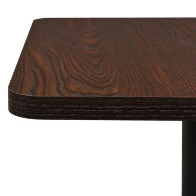 vidaXL Bistrotafel 78,5x78,5x107 cm donkeressenkleurig