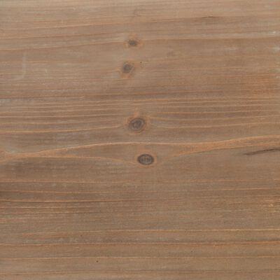 vidaXL Boekenkast 90,5x35x180 cm massief vurenhout en staal