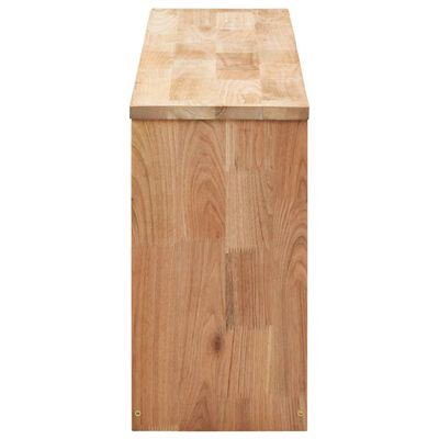 vidaXL Schoenenopbergbank 94x20x38 cm massief walnotenhout