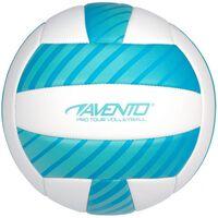 Avento beachvolleybal kunstleer maat 5 wit/blauw